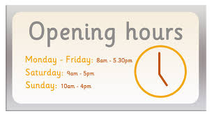 opening hours sign free early years primary teaching resources