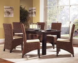 dining room stunning seagrass dining chairs design with espresso