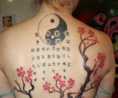 yin yang chinese cherry tree art tattoo designs tattoomagz