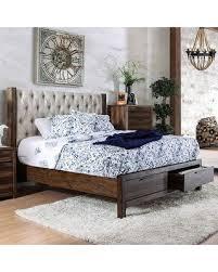 button tuck headboard deal alert hutchinson collection cm7577dr ck bed california king