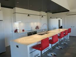 stunning contemporary kitchen 70mm thick quartz benchtop with