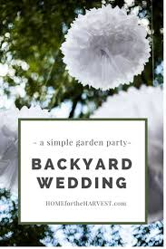 a simple backyard wedding ceremony and reception gardens