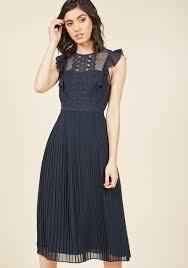 midi dress ruffled in florence midi dress in midnight modcloth