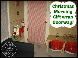 christmas door wrapping paper christmas morning traditions gift wrapped doorway tip junkie