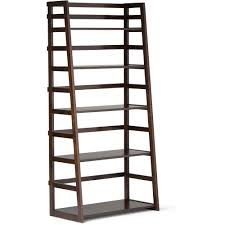 Sauder Ladder Bookcase by Simpli Home Acadian Ladder Shelf Bookcase Walmart Com