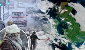 winter 2016 coldest snap for 5 years and heavy snow in shock