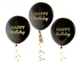 birthday balloons for men birthday balloons black gold metallic silver birthday