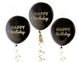 balloons for men birthday balloons black gold metallic silver birthday