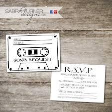 wedding song request cards cassette rsvp card song request card wedding rsvp