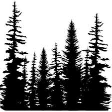 impression obsession cling sts pine trees cover a card