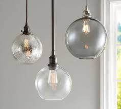 Glass Globe Ceiling Light Fixture Pb Classic Glass Globe Pendant Pottery Barn
