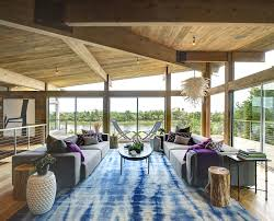 Interior Designers Long Island Hurricane Proof Wood And Steel Waterfront Home On Long Island