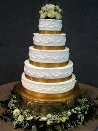 wedding cake ribbon wedding cake with gold ribbon tbrb info