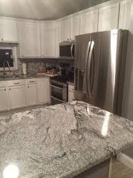 silver creek kitchen cabinets kitchen granite countertops viscont white silver cloud from