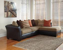 ashley armant mocha tone sectional with right arm facing corner chaise
