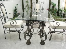 Antique Cast Iron Patio Furniture Wrought Iron Dining Table Base Only Industrial Round Salterini