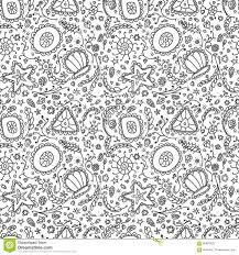 handmade seamless pattern or background with abstract protozoa or