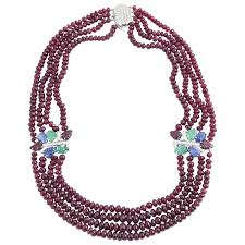 ruby bead necklace images Ruby bead necklace with tutti fruiti emerald diamond sapphire ruby jpg