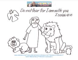 daniel and the lions den bible memory verse coloring page bebo