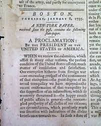 by george washington in a boston newspaper in 1795 to view