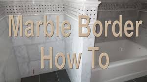 how to install a complicated marble border overview youtube