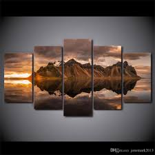 Home Decor Canvas Art 2017 Canvas Art Rock Mount Reflection On Water Hd Printed Wall Art