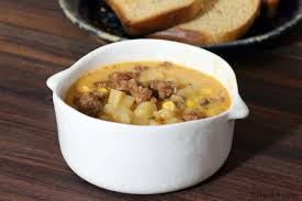 hearty corn chowder with sausage and potatoes recipe