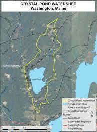 Lake Washington Map by Lakes Of Maine Lake Overview Crystal Pond Washington Knox