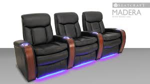 home theater recliner seatcraft madera theater seats youtube