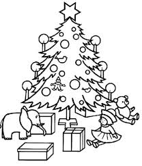 christmas tree coloring pages presents christian coloring