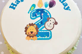 happy 2nd birthday cake with kid u0027s name 2happybirthday