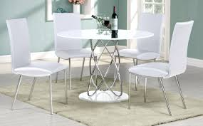 modern white dining room chairs contemporary dining table and