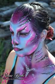 sea creature face paint by sammie bartko i airbrushed the base on