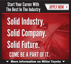 lexus financial careers careers opportunities in manassas va at miller toyota
