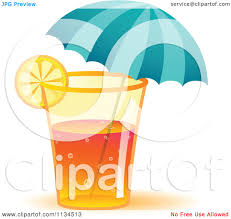 mixed drink clip art clipart of a long island iced tea cocktail drink with an umbrella