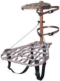 lone wolf assault ii hang on treestand cast aluminum platform