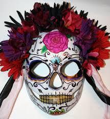 Skull Mask Halloween Calavera Mask 2 Dia De Los Muertos By Lilbittyfish Deviantart