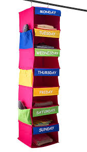 Hanging Closet Shelves by Amazon Com Saganizer Daily Activity Organizer Kids 7 Shelf