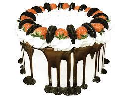 red velvet oreo cake with strawberries u2013 baked