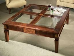 Modern Sofa Table by Glass Top Coffee Table In Square Shape And Wooden Legs The Glass