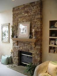 stone fireplace decor cream stone fireplace with khaki wooden mantel shelf and khaki