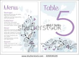 Blue Table Menu Table Name Card Stock Images Royalty Free Images U0026 Vectors
