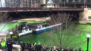 chicago river dyeing st patrick u0027s day celebration 2016 youtube