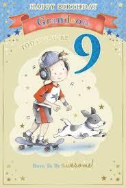 grandson u0027s 9th birthday card u2013 9 today boy u0026 headphones on