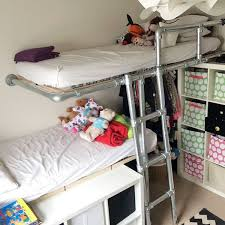 Loft Bed Plans Free Dorm by Pipe Bunk Bed Made With Keeklamp Beds Made With Pipe
