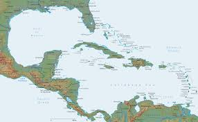 central america physical map map caribbean central america