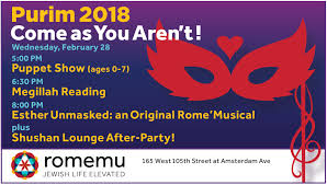 purim puppets purim 2018 come as you aren t romemu