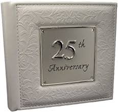 25th wedding anniversary gift 25th silver wedding anniversary gift photo album co uk baby