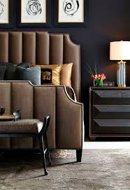 best 25 art deco bedroom ideas on pinterest art deco room art bernhardt interiors bayonne upholstered bed in channeled autumn leaf brown velvet and antique brass nailhead art deco bedroommaster
