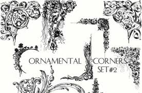 60 free high quality decorative corner photoshop brushes sets 92